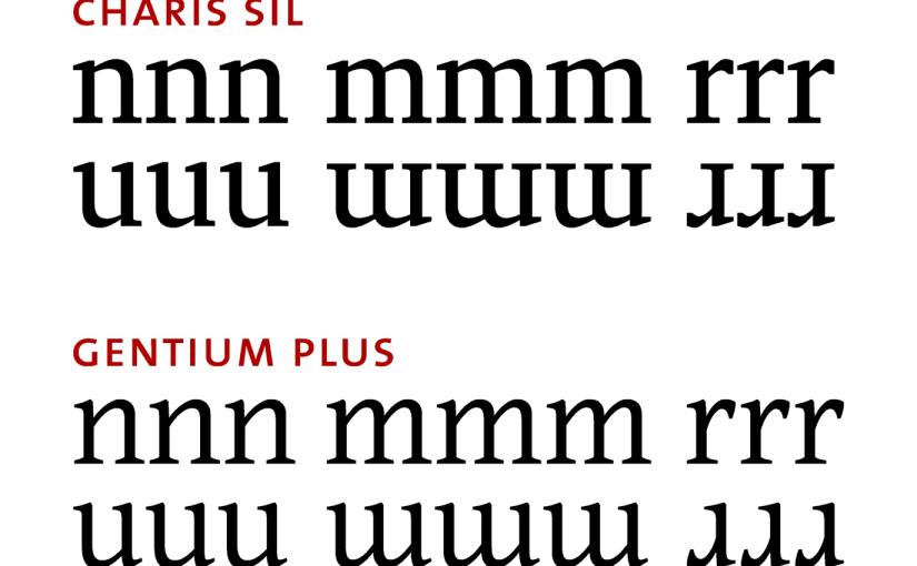 Charis SIL und Gentium Plus