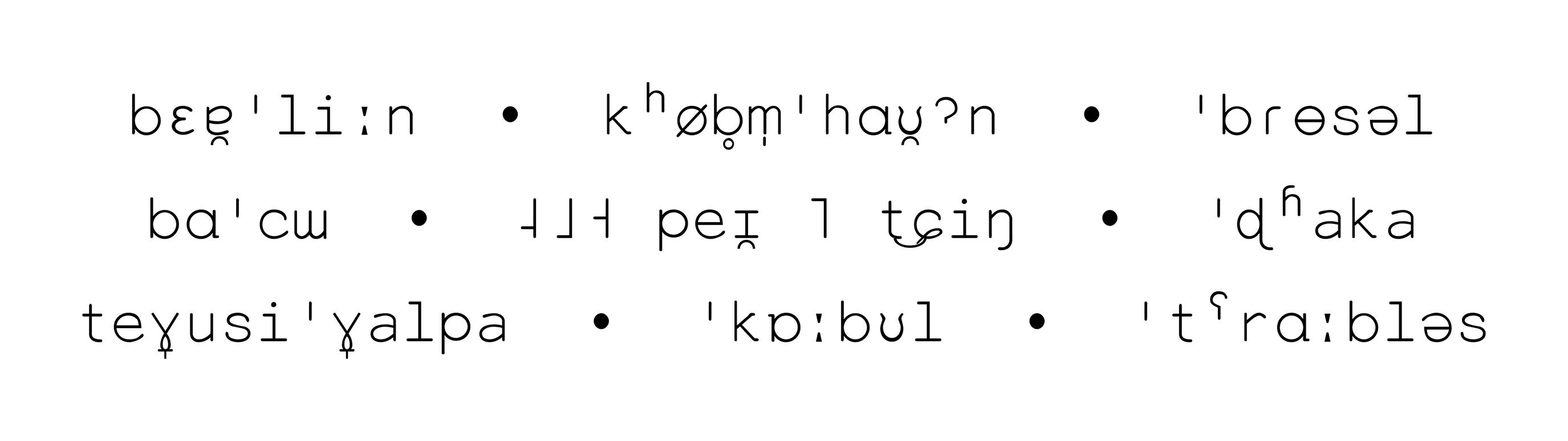 IPA-Schriftmuster der Everson Mono