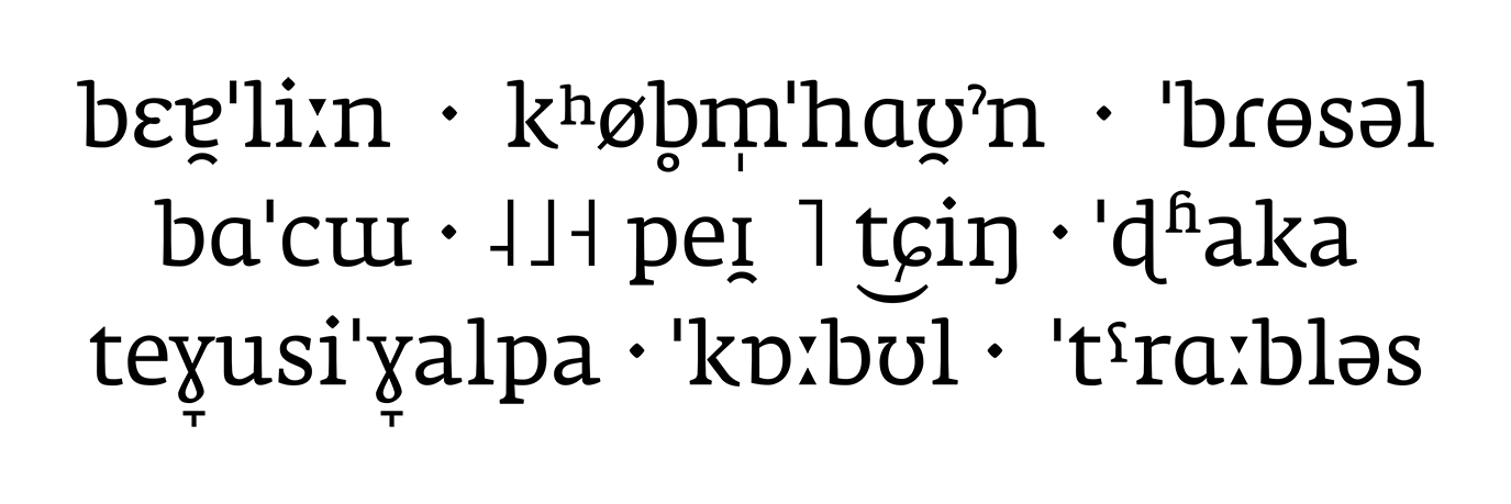 IPA-Schriftmuster der Fedra