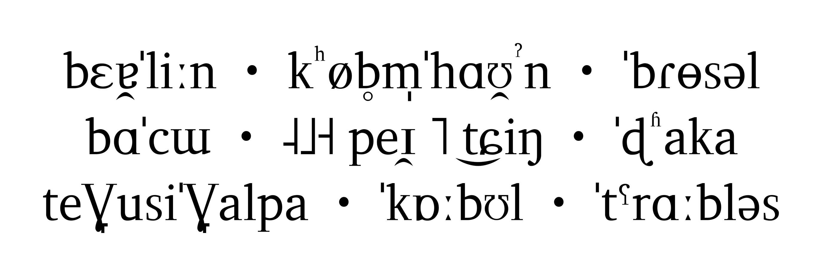 IPA-Schriftmuster der LeedsUni