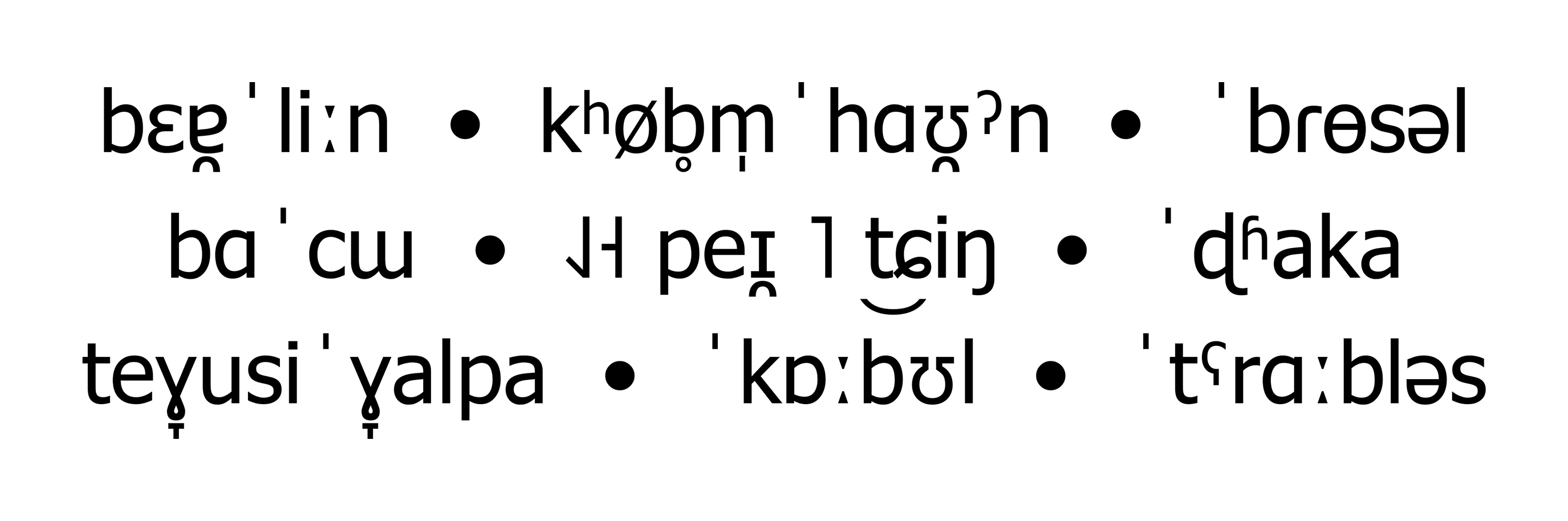 IPA-Schriftmuster der Tahoma