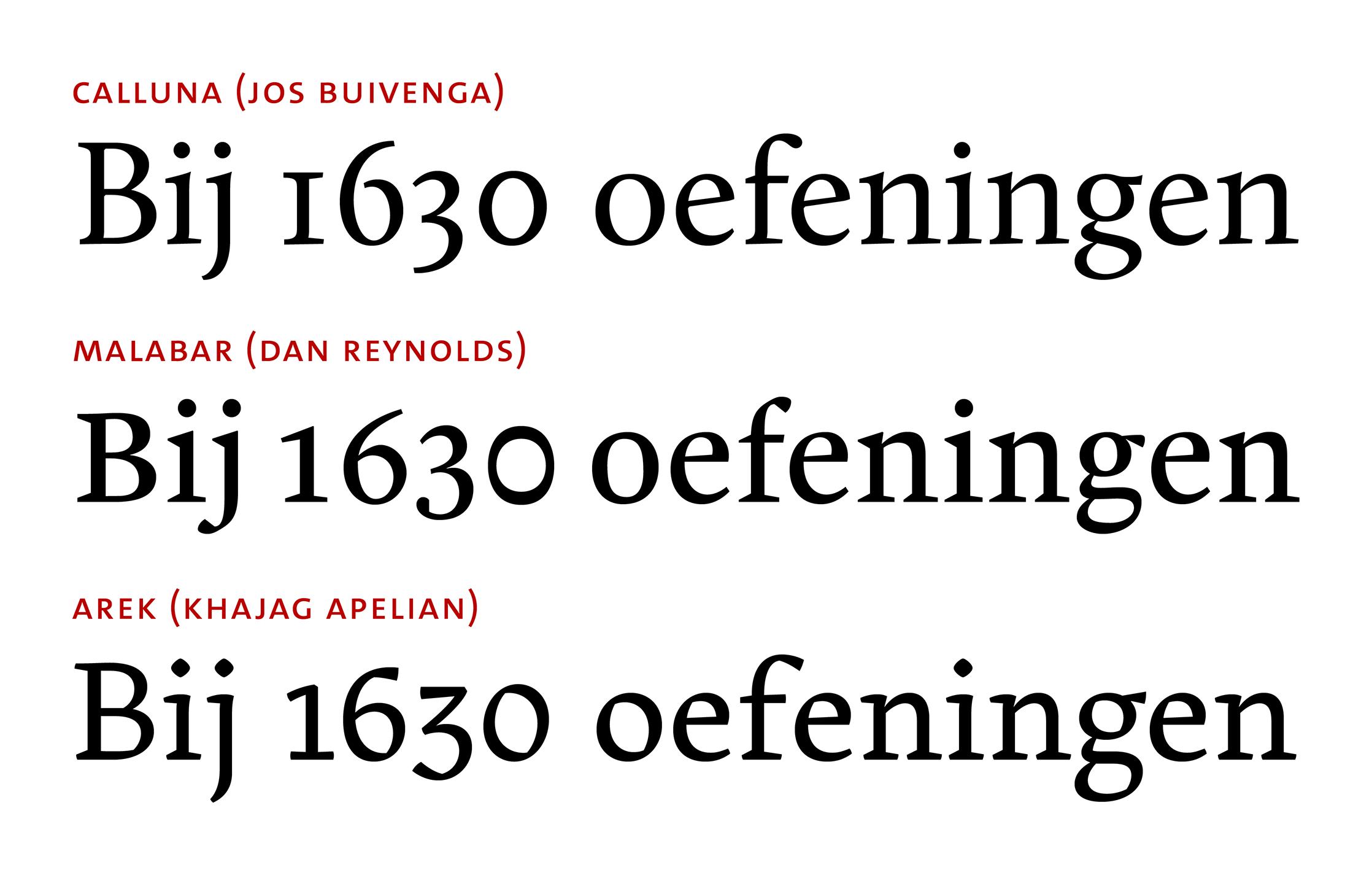 Combinations of changes between zero and oh glyphs