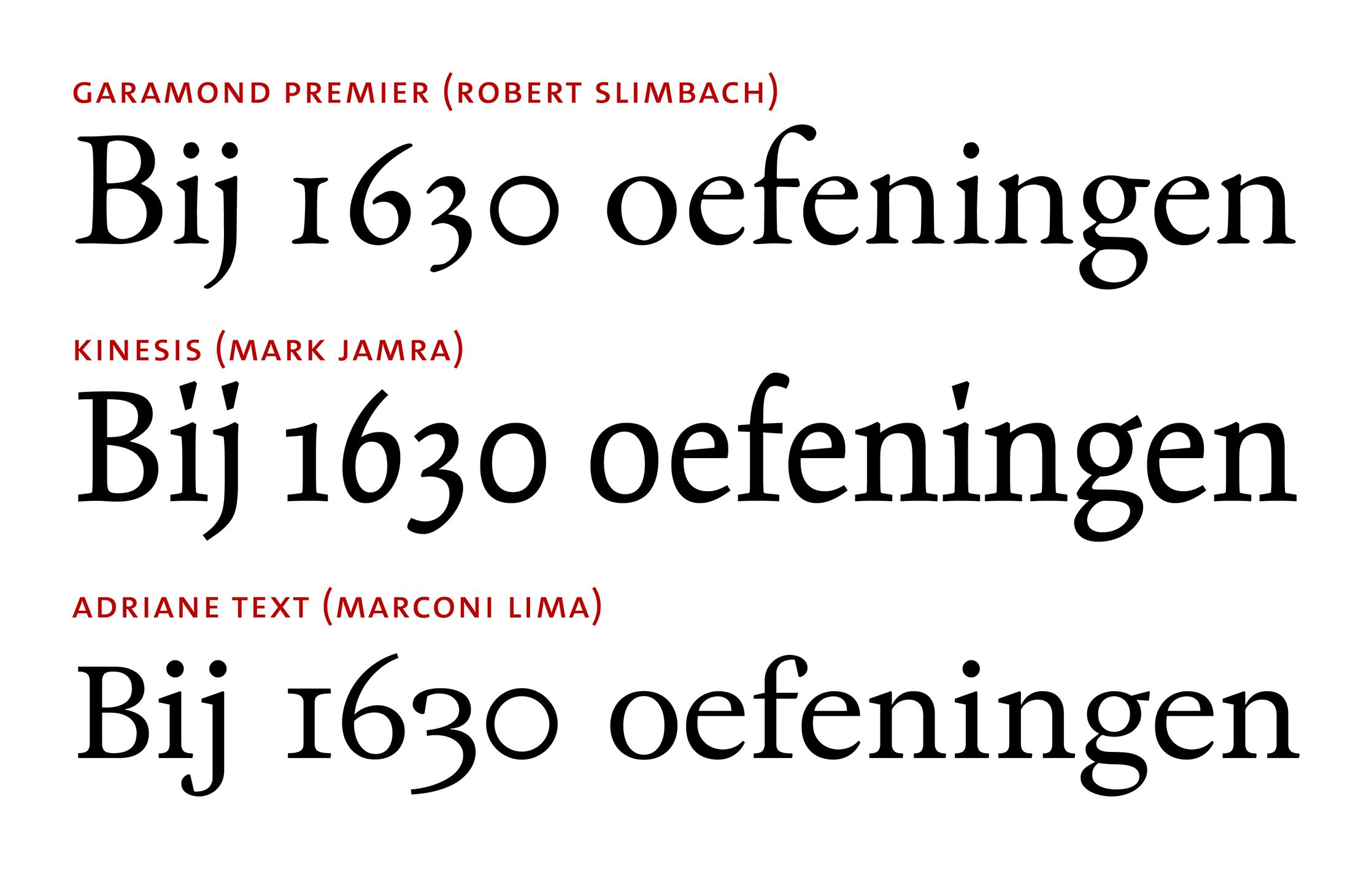Contrast strength changes between zero and oh glyphs